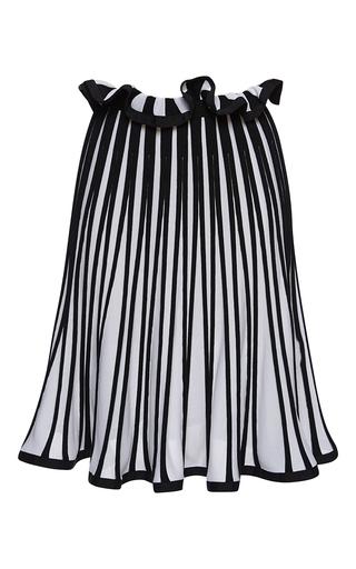 Medium msgm white striped knit skirt