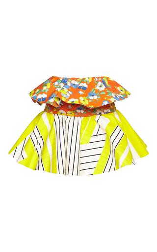 Medium msgm multi printed peplum skirt