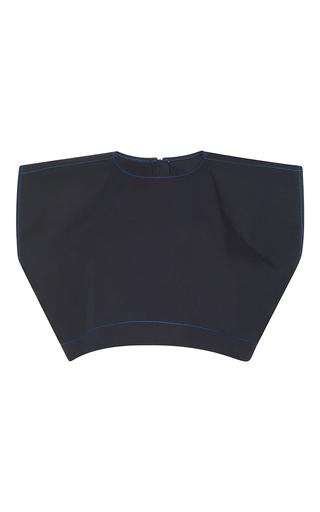 Medium msgm black cap sleeve crop top