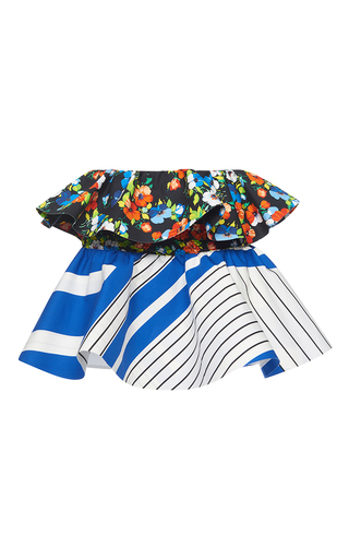 Medium msgm multi printed peplum skirt 2