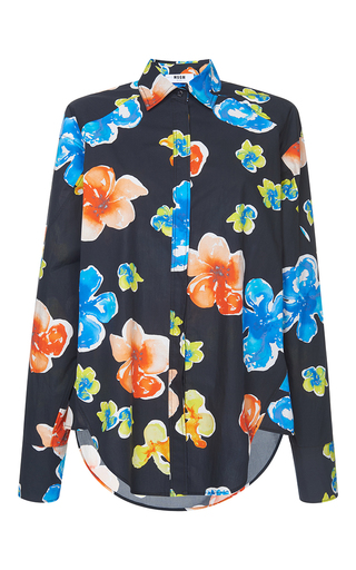 Medium msgm floral classic printed floral shirt