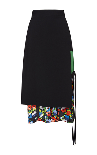 Medium msgm black color block skirt