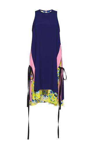 Medium msgm blue color block blue tie dress