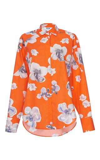 Medium msgm floral classic orange floral shirt