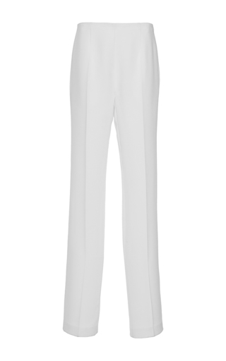 Medium paule ka white cady wide legged trouser with pockets