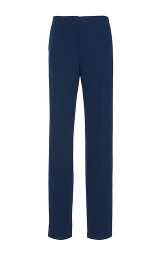 Medium paule ka blue cady wide legged trouser with pockets 2