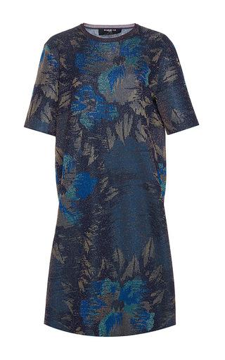 Medium paule ka print kimono jacquard lurex knit dress