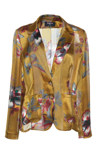 Medium paule ka print japanese floral printed silk satin jacket