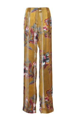 Medium paule ka print japanese floral printed wide legged trouser