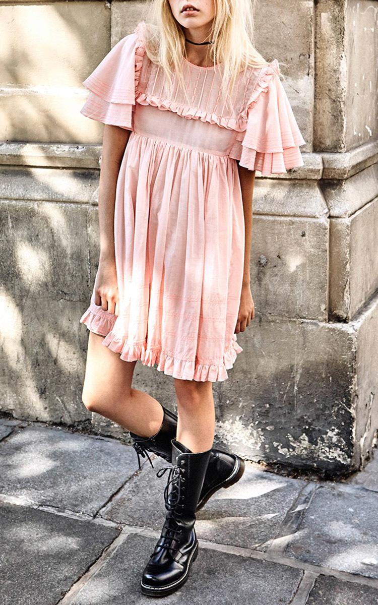 d3c41a53c147e Ruffle Sleeve Babydoll Dress by Manoush   Moda Operandi