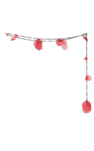 Medium paule ka red rose petal chain belt