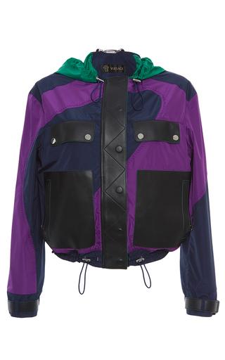 Medium versace multi color block hooded jacket