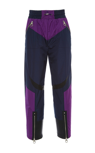 Medium versace multi color block zip detail pants
