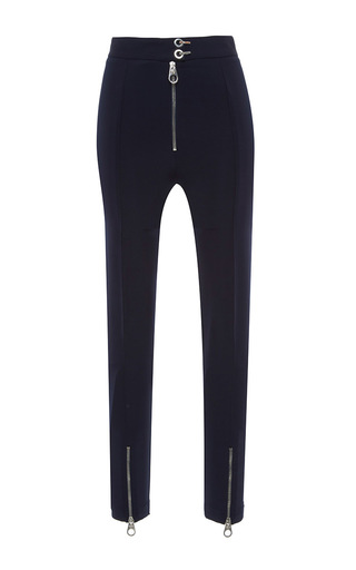 Medium versace navy zip detail pants