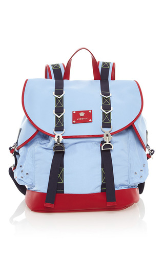 67826679b5 VersaceNylon and Leather Backpack
