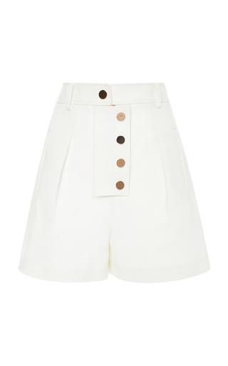 Medium tibi white high rise shorts