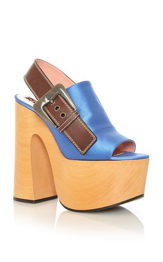 Medium rochas blue platform slingback sandal
