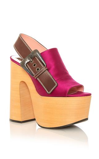 Medium rochas pink platform slingback sandal