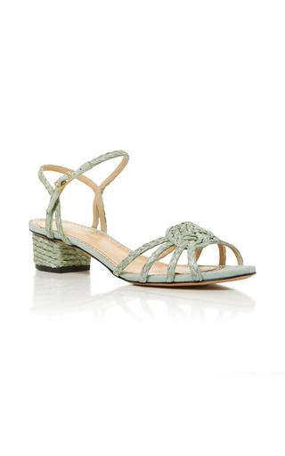Medium charlotte olympia green its knot you its me sandal