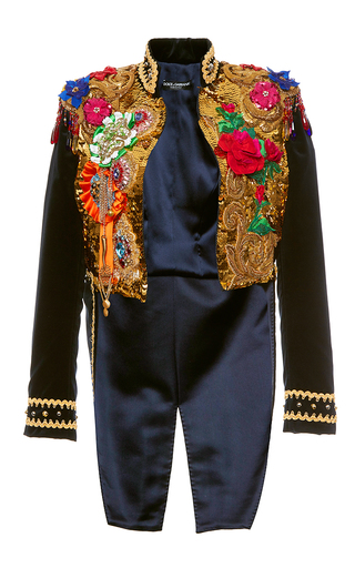 Medium dolce gabbana multi sequin paillette tailcoat jacket