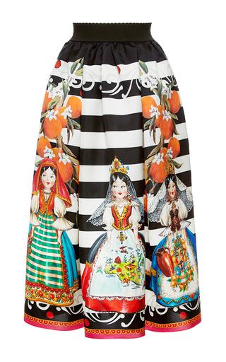 Medium dolce gabbana print bambole print mikado skirt