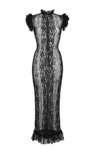 Medium dolce gabbana black stretch lace sheath dress