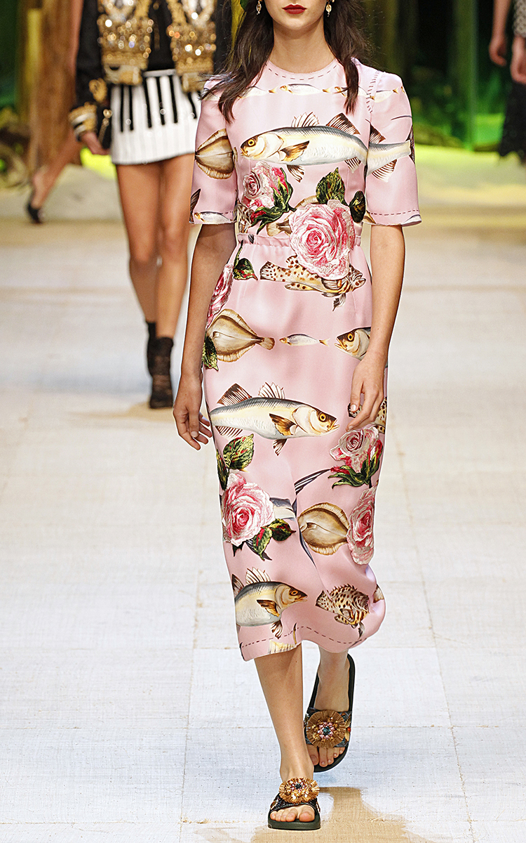 Dolce & Gabbana fish print dress Clearance New Free Shipping Cheap Quality Purchase Cheap Online vBsfe9qpu
