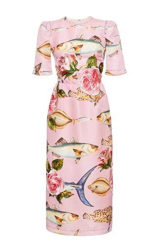 Medium dolce gabbana print fish print gazar sheath dress