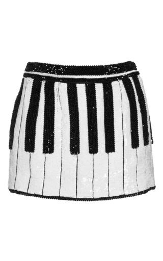 Medium dolce gabbana multi piano key sequin mini skirt