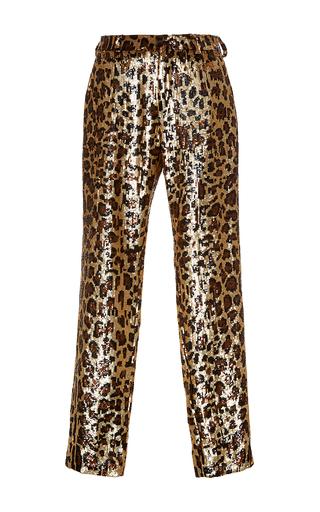 Medium dolce gabbana print cheetah sequin straight legged pant