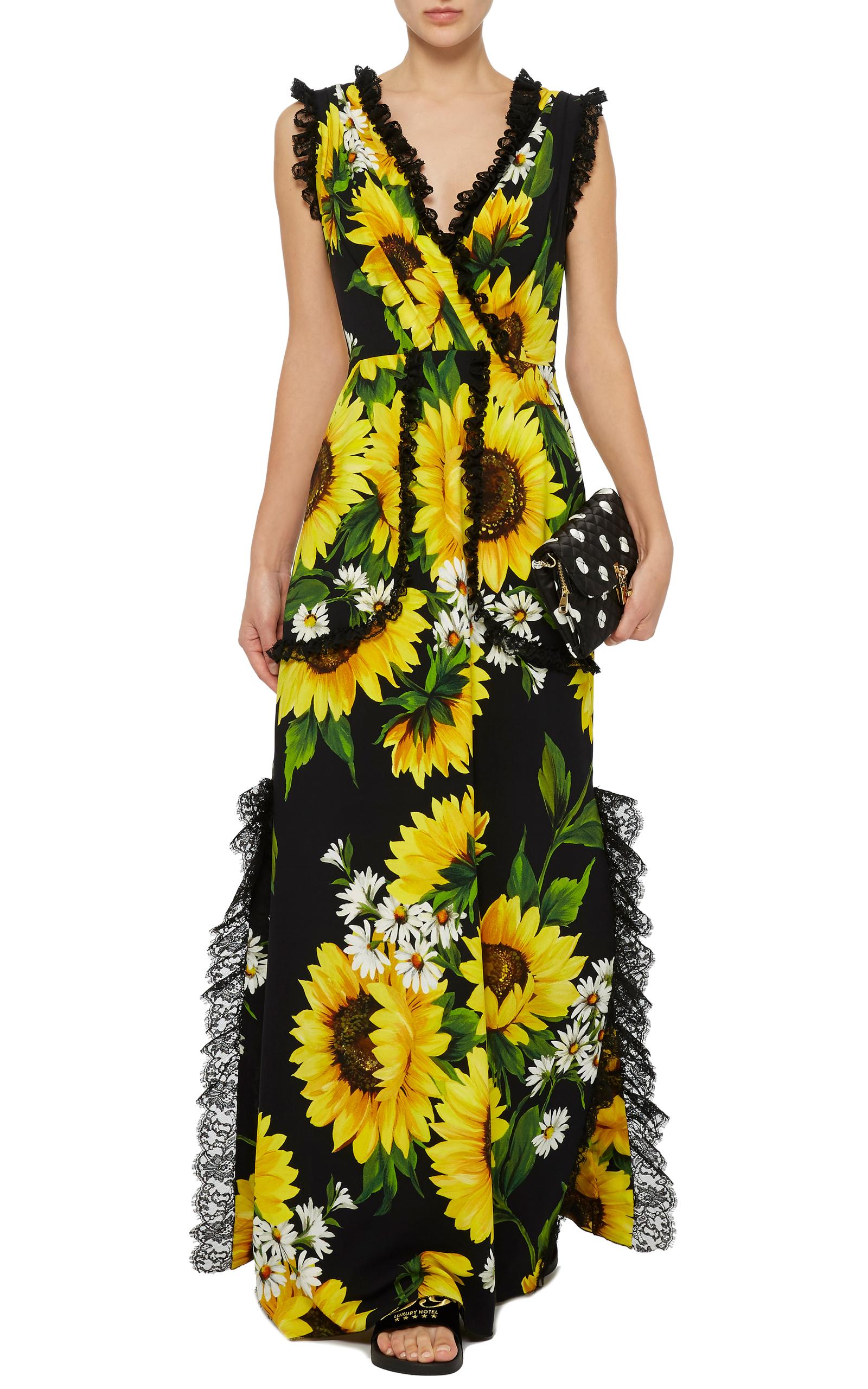 Sunflower Lace Detail Maxi Dress By Dolce Amp Moda Operandi