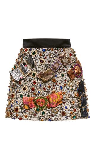 Medium dolce gabbana multi jeweled lame mini skirt