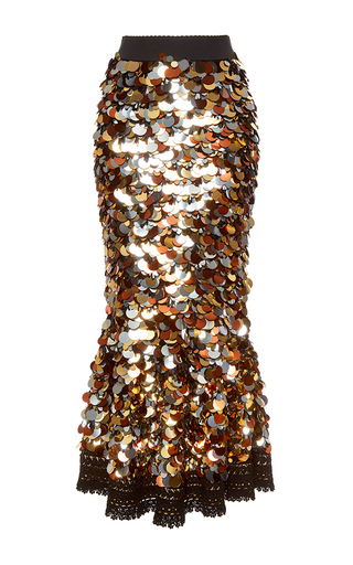 Medium dolce gabbana multi sequin paillette skirt