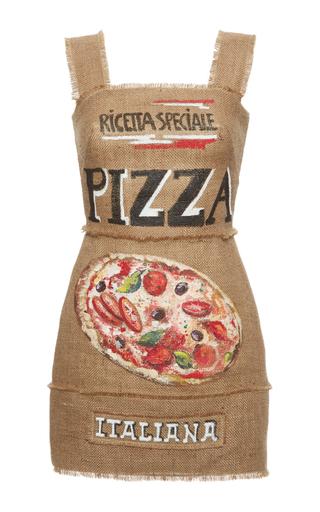 Medium dolce gabbana tan pizza mini dress
