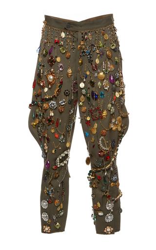 Medium dolce gabbana multi jeweled harlem cropped pant