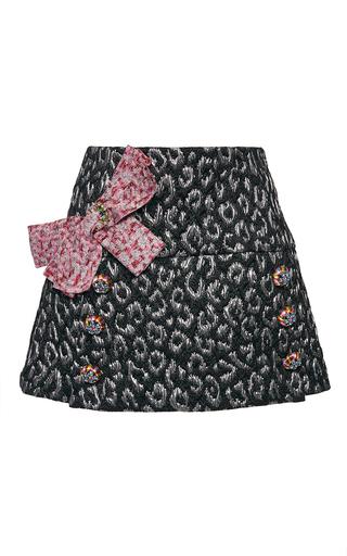 Medium dolce gabbana multi metallic leopard jacquard mini skirt