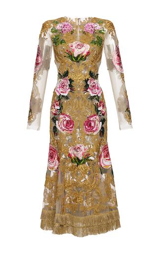 Medium dolce gabbana multi long sleeve baroque embroidered tulle dress