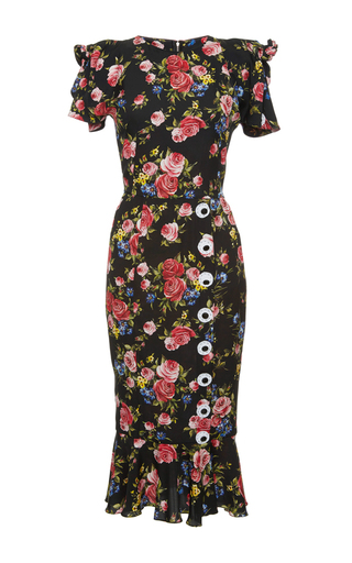 Medium dolce gabbana print floral print sheath dress