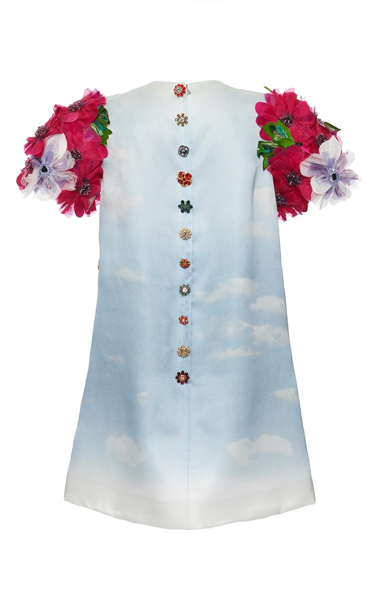 Virgin Mary Print Shift Dress by Dolce & Gabbana   Moda Operandi
