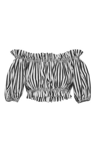 Medium dolce gabbana stripe striped cotton crop top