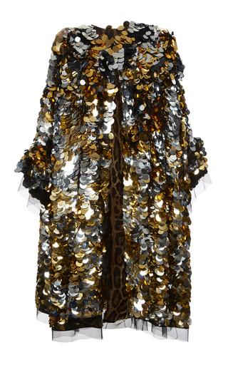Medium dolce gabbana metallic paillette embroidered coat