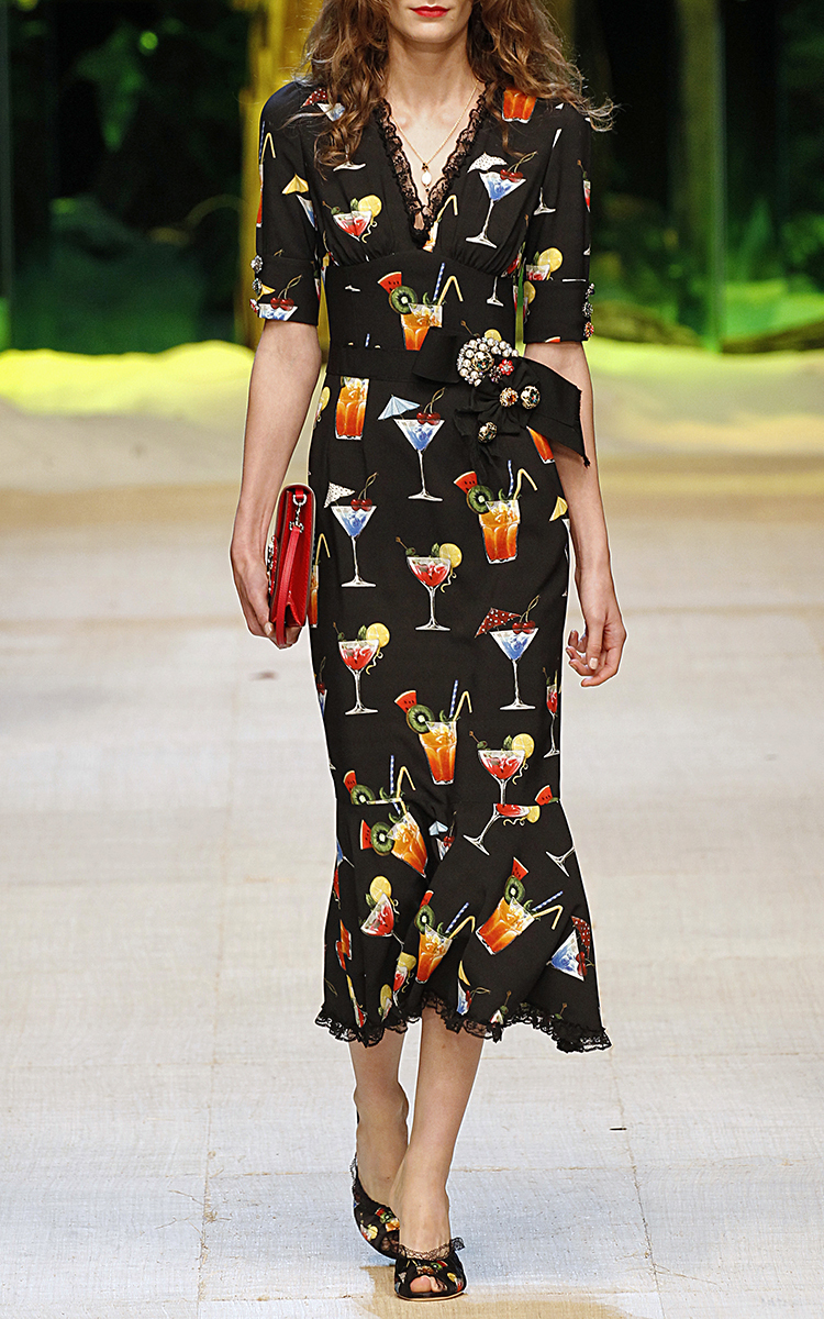 Italian cocktail v neck dress by dolce gabbana moda operandi loading ombrellifo Image collections