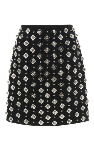 Medium david koma black embroidered mini skirt