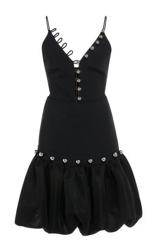 Medium david koma black sleeveless v neck mini dress