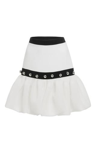 Medium david koma white puffed hem mini skirt