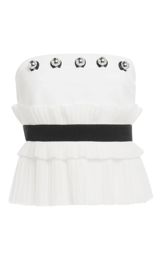 Medium david koma white strapless bustier top