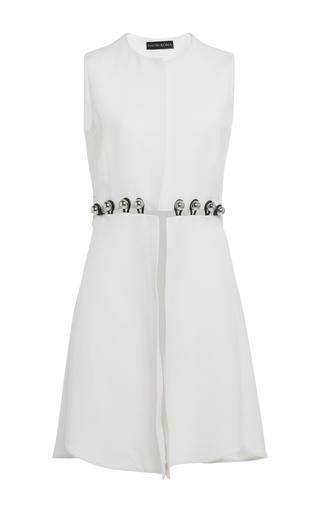 Medium david koma white sleeveless waist coat