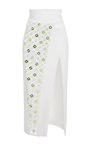 Medium david koma white high waisted midi skirt