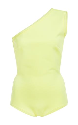 Medium david koma yellow one shoulder bodysuit
