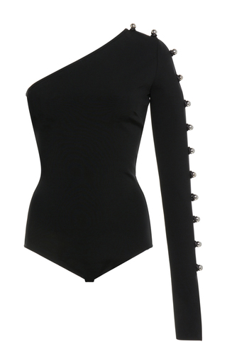 Medium david koma black one sleeve bodysuit